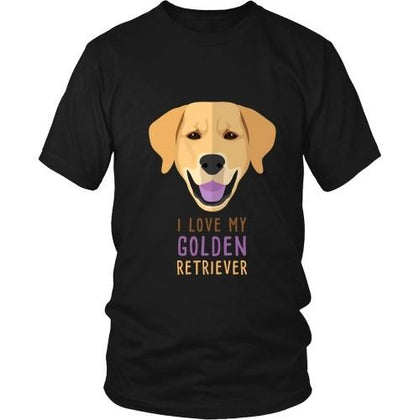 Dogs T Shirt - I love my Golden Retriever-T-shirt-Teelime | shirts-hoodies-mugs