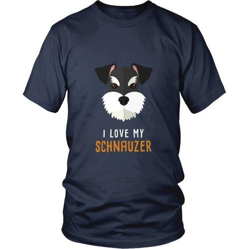 Dogs T Shirt - I love my Schnauzer-T-shirt-Teelime | shirts-hoodies-mugs