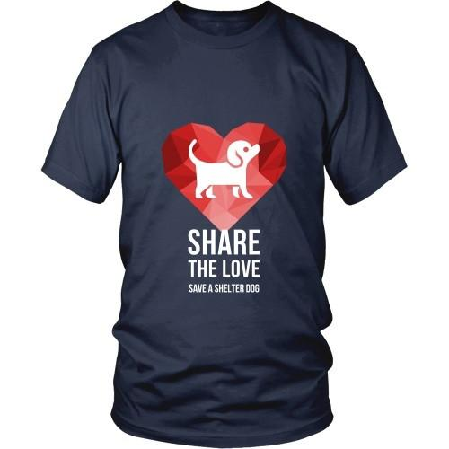 Dogs T Shirt - Share the Love Save a Shelter-T-shirt-Teelime | shirts-hoodies-mugs