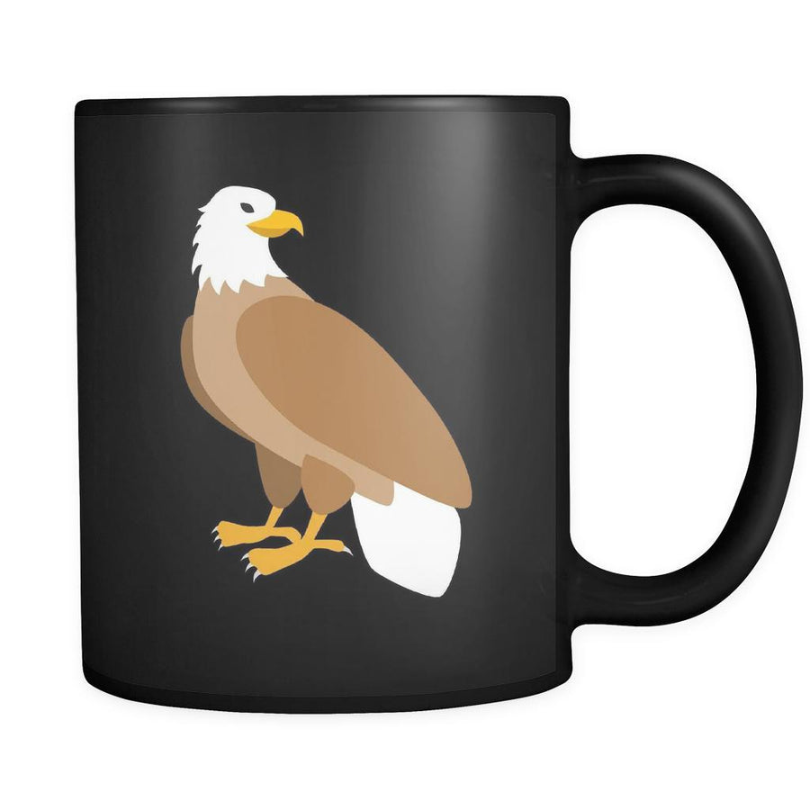 Eagle Animal Illustration 11oz Black Mug-Drinkware-Teelime | shirts-hoodies-mugs