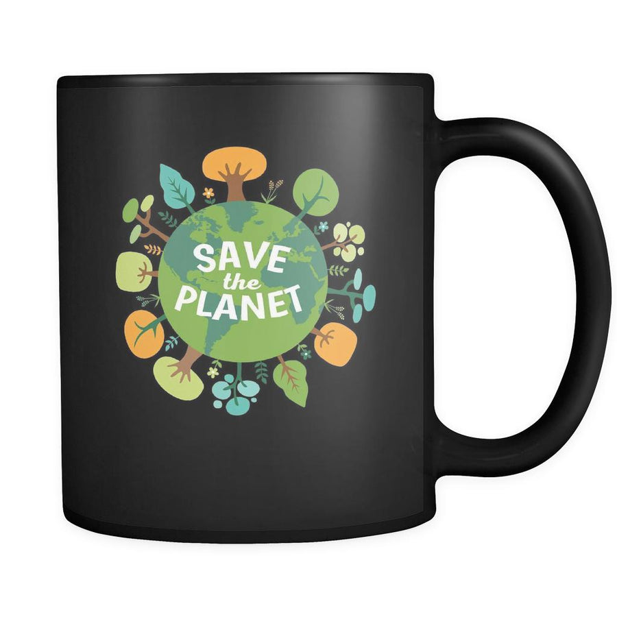 Ecology Save the planet 11oz Black Mug-Drinkware-Teelime | shirts-hoodies-mugs