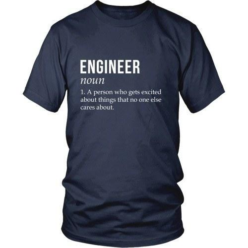 Engineer T Shirt - A person who gets excited about things that no one else cares about-T-shirt-Teelime | shirts-hoodies-mugs