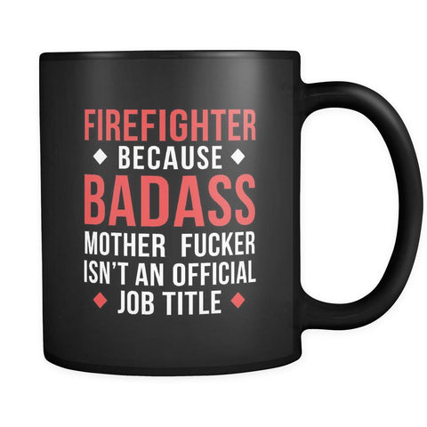 Firefighter / Fireman coffee mug Firefighter / Fireman coffee cup (11oz) Black-Drinkware-Teelime | shirts-hoodies-mugs