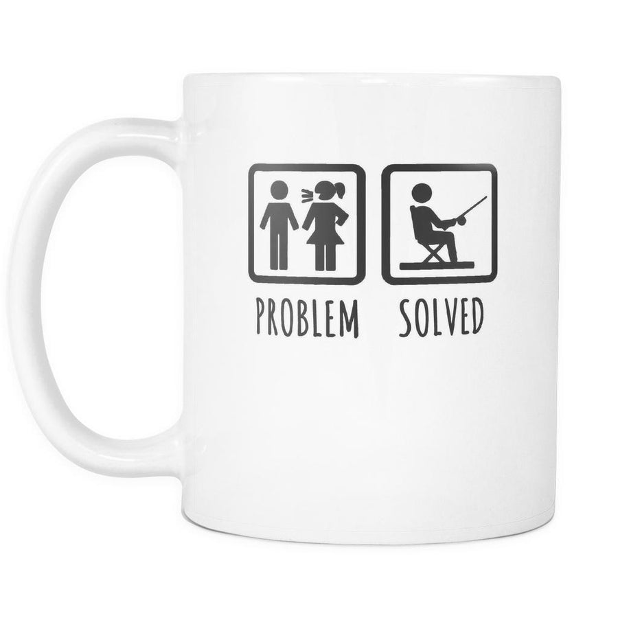 Fishing Coffe Cup - Fishing gift Problem solved-Drinkware-Teelime | shirts-hoodies-mugs