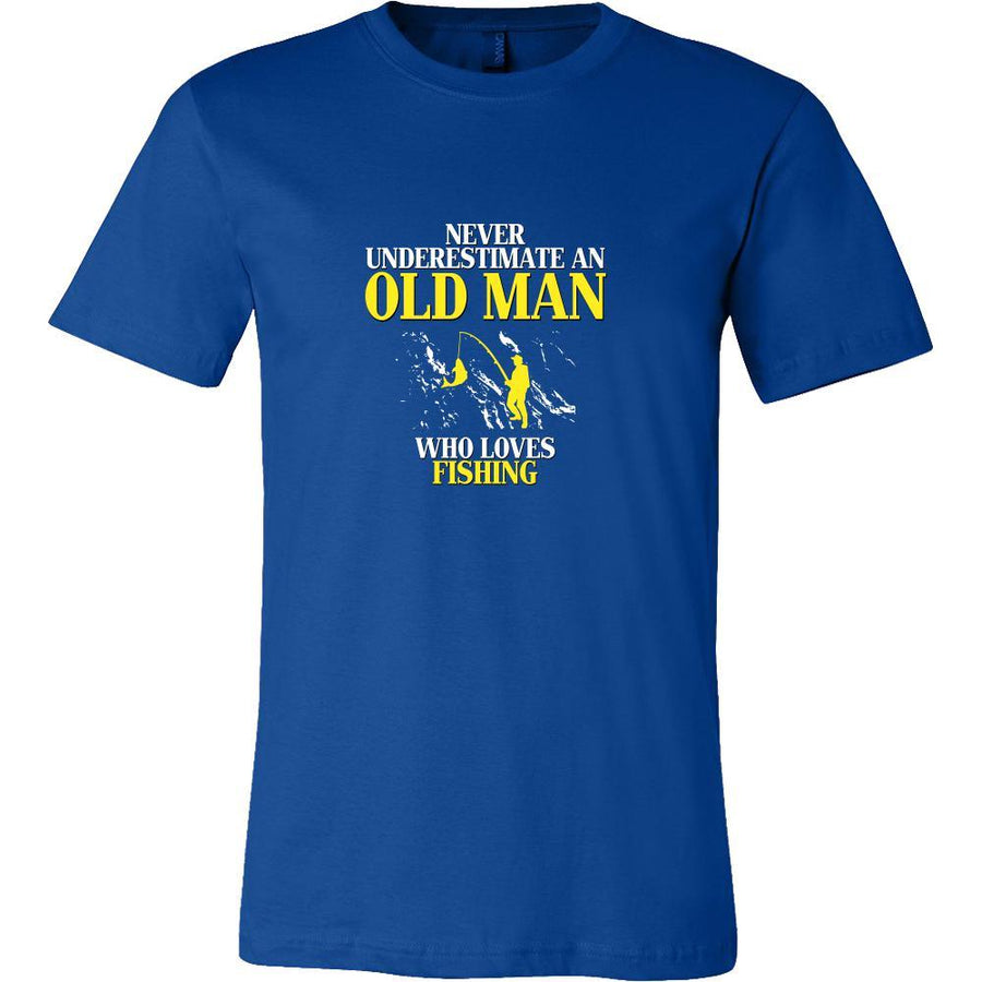 Fishing Shirt - Never underestimate an old man who loves fishing Grandfather Hobby Gift-T-shirt-Teelime | shirts-hoodies-mugs