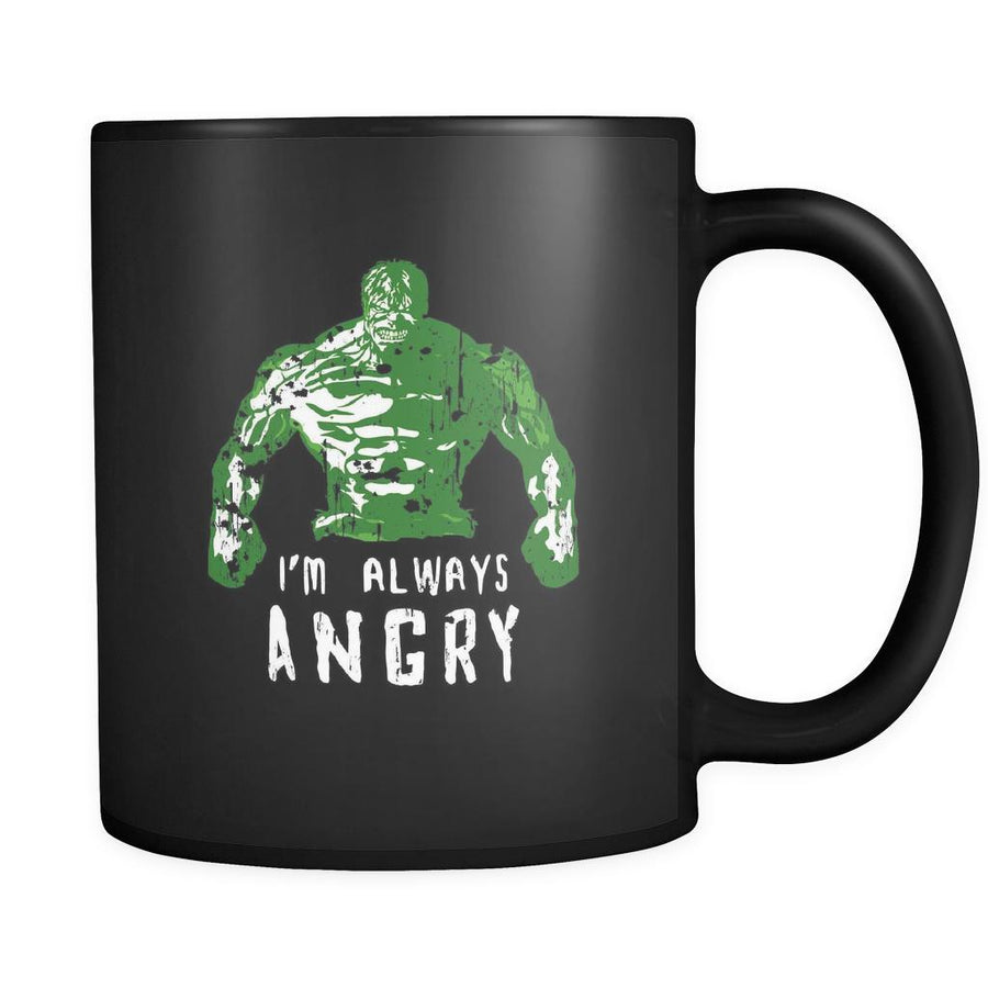 Fitness I'm always angry 11oz Black Mug-Drinkware-Teelime | shirts-hoodies-mugs