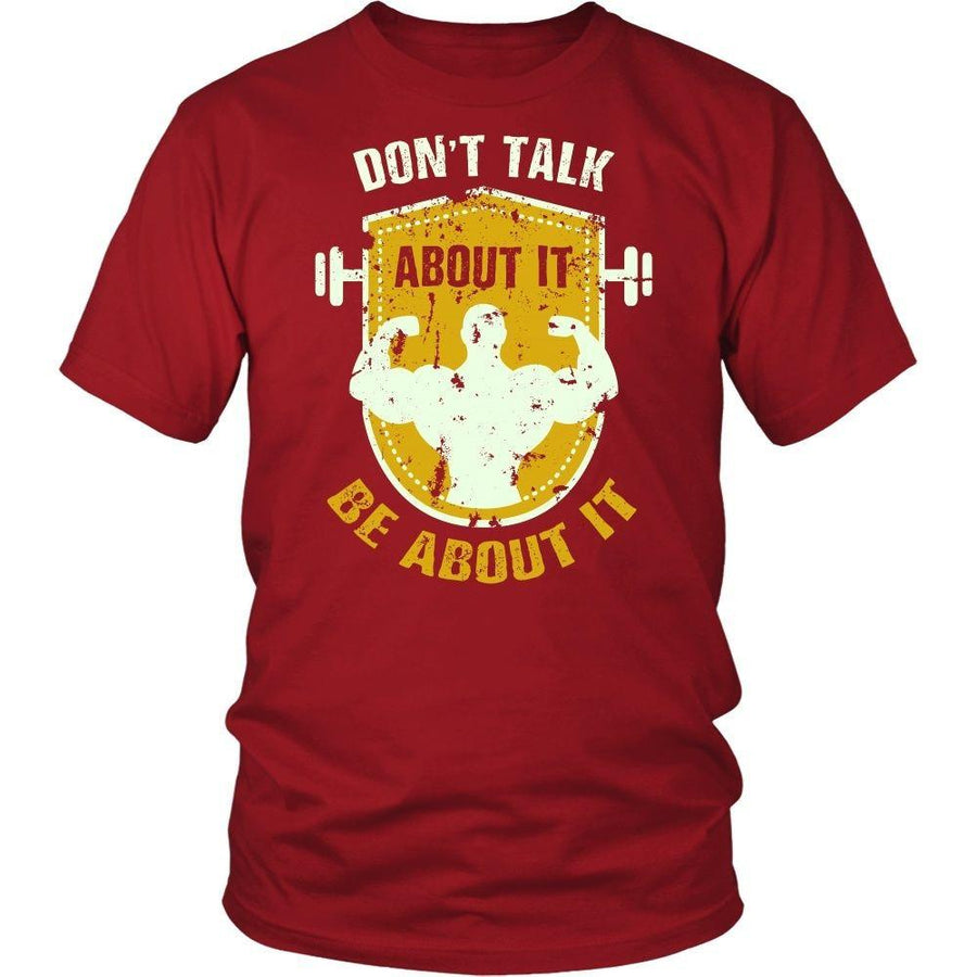 Fitness T Shirt - Don't talk about it Be about it-T-shirt-Teelime | shirts-hoodies-mugs