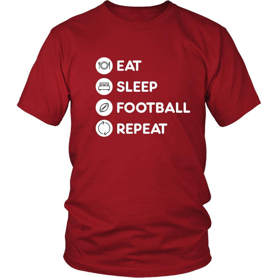 Football - Eat Sleep Football Repeat - Football Sport Shirt-T-shirt-Teelime | shirts-hoodies-mugs