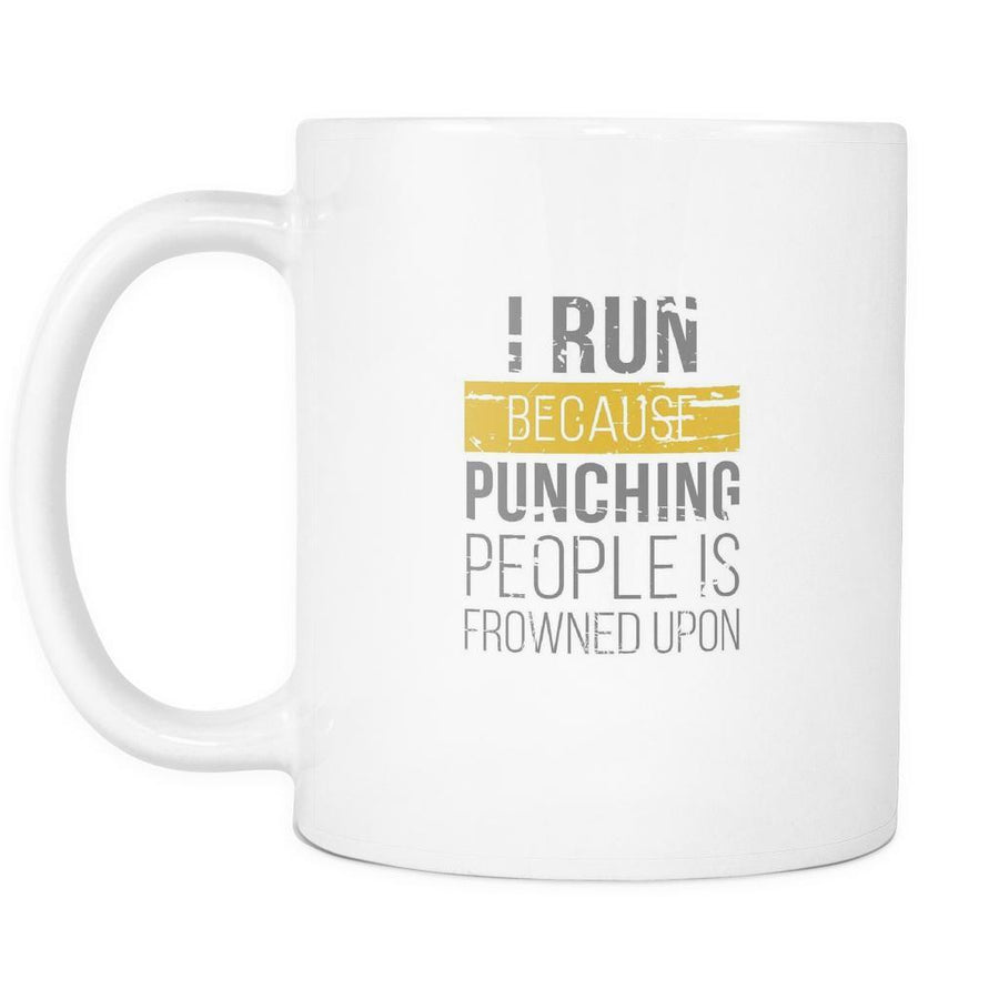 Funny Coffee Cup - I Run Punching People