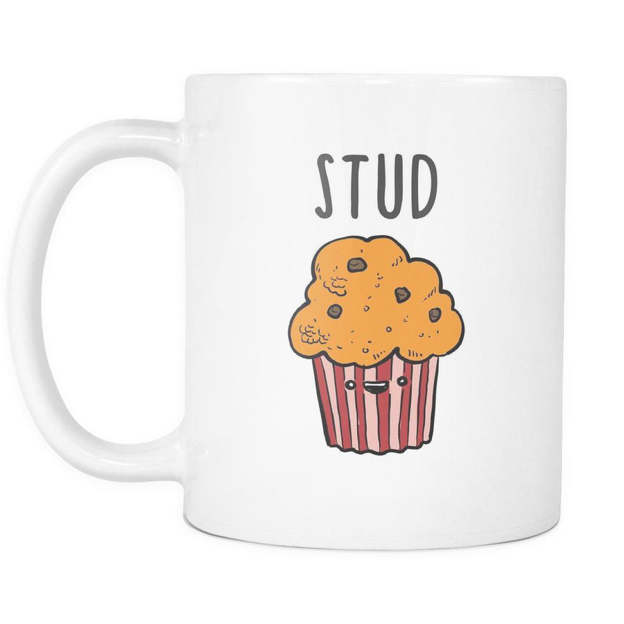 Funny Coffee Mugs - Stud Muffin-Drinkware-Teelime | shirts-hoodies-mugs
