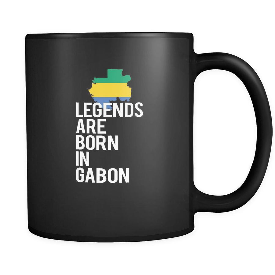 Gabon Legends are born in Gabon 11oz Black Mug-Drinkware-Teelime | shirts-hoodies-mugs