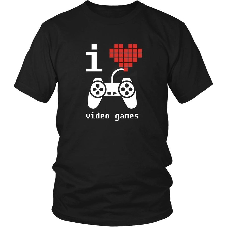Gamer T Shirt - I Love Video Games-T-shirt-Teelime | shirts-hoodies-mugs