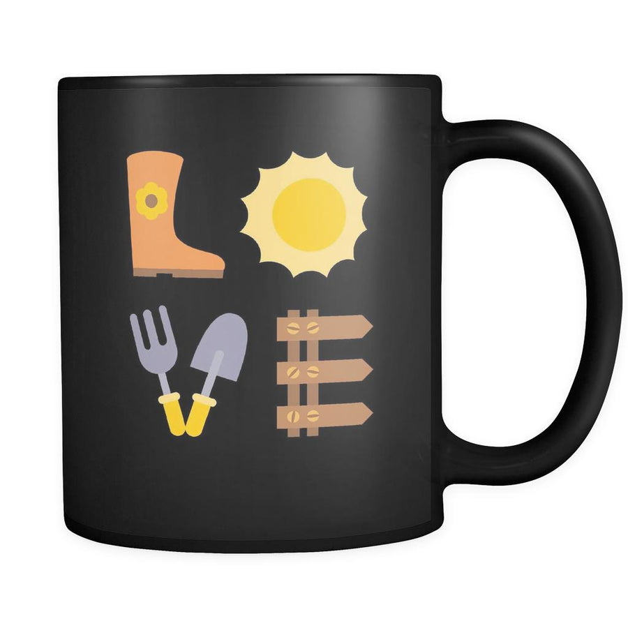 Gardening - LOVE Gardening - 11oz Black Mug-Drinkware-Teelime | shirts-hoodies-mugs