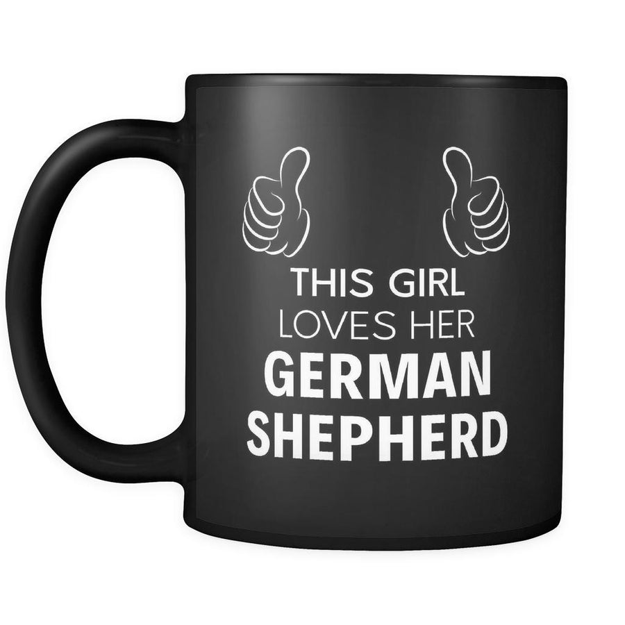 German Shepherd This Girl Loves Her German Shepherd 11oz Black Mug-Drinkware-Teelime | shirts-hoodies-mugs