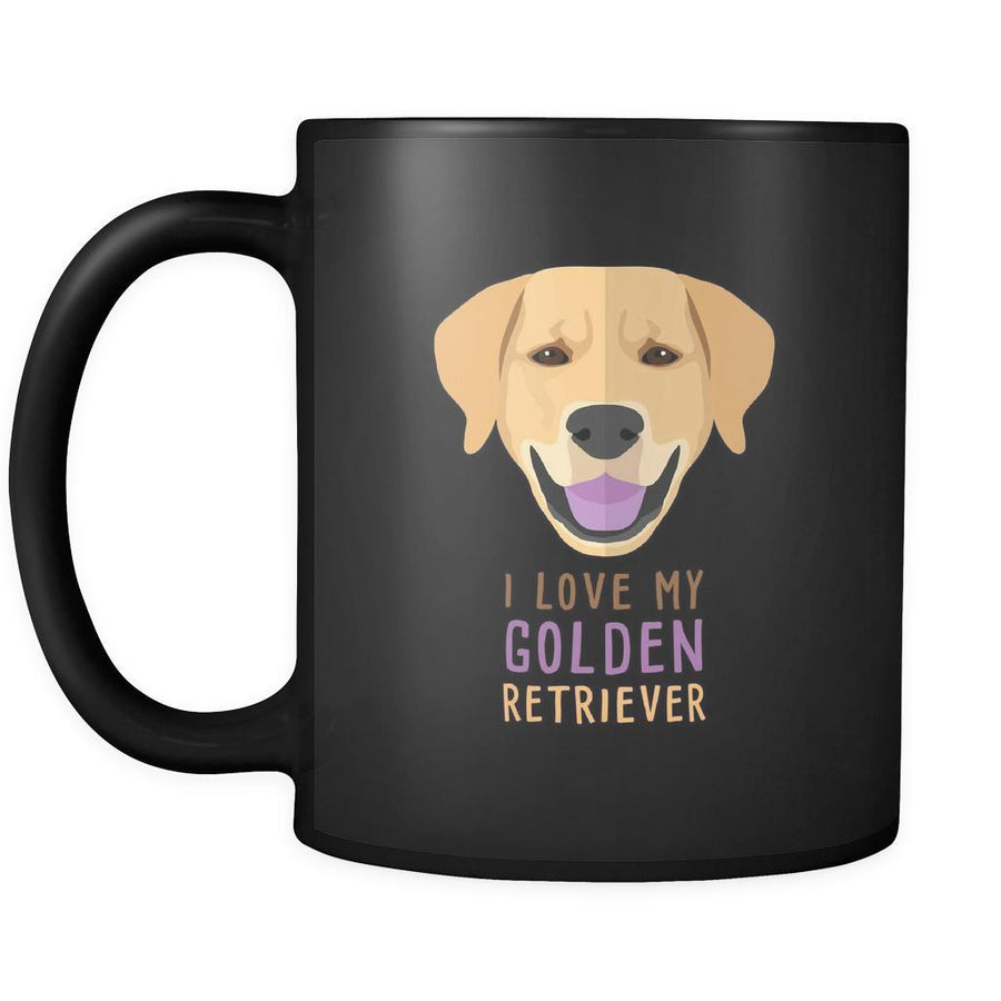 Golden Retriever mug - Golden Retriever owner - I love my Golden Retriever- Golden Retriever Cofee cup Dog Lover 11oz Black-Drinkware-Teelime | shirts-hoodies-mugs