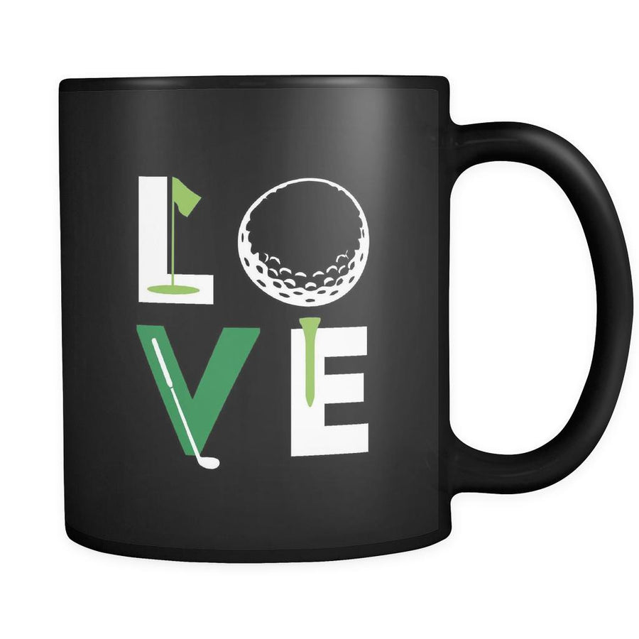 Golf Love 11oz Black Mug