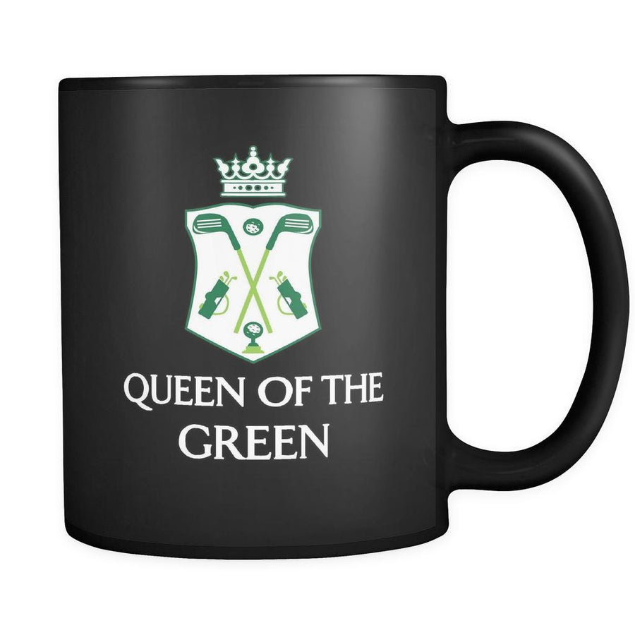 Golf Player - Queen of the Green - 11oz Black Mug-Drinkware-Teelime | shirts-hoodies-mugs
