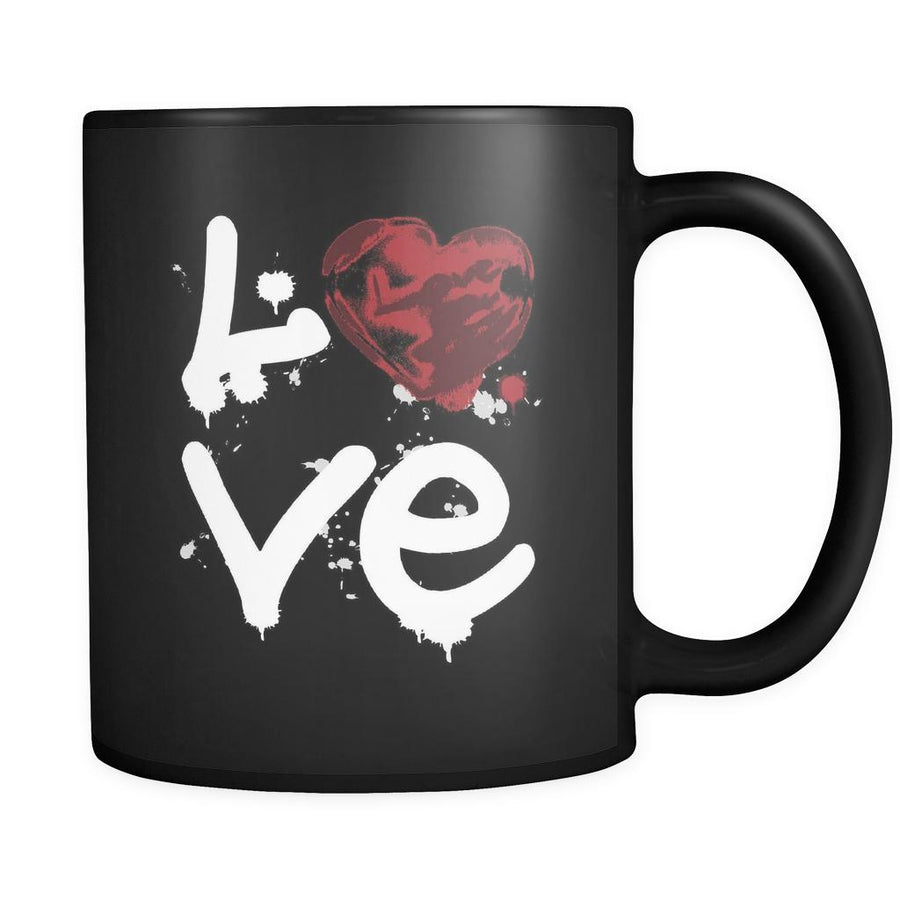 Graffiting - LOVE Graffiting - 11oz Black Mug-Drinkware-Teelime | shirts-hoodies-mugs