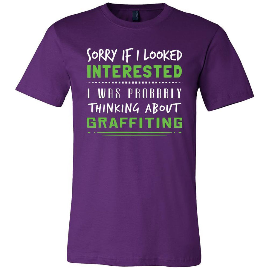 Graffiting Shirt - Sorry If I Looked Interested, I think about Graffiting - Hobby Gift-T-shirt-Teelime | shirts-hoodies-mugs