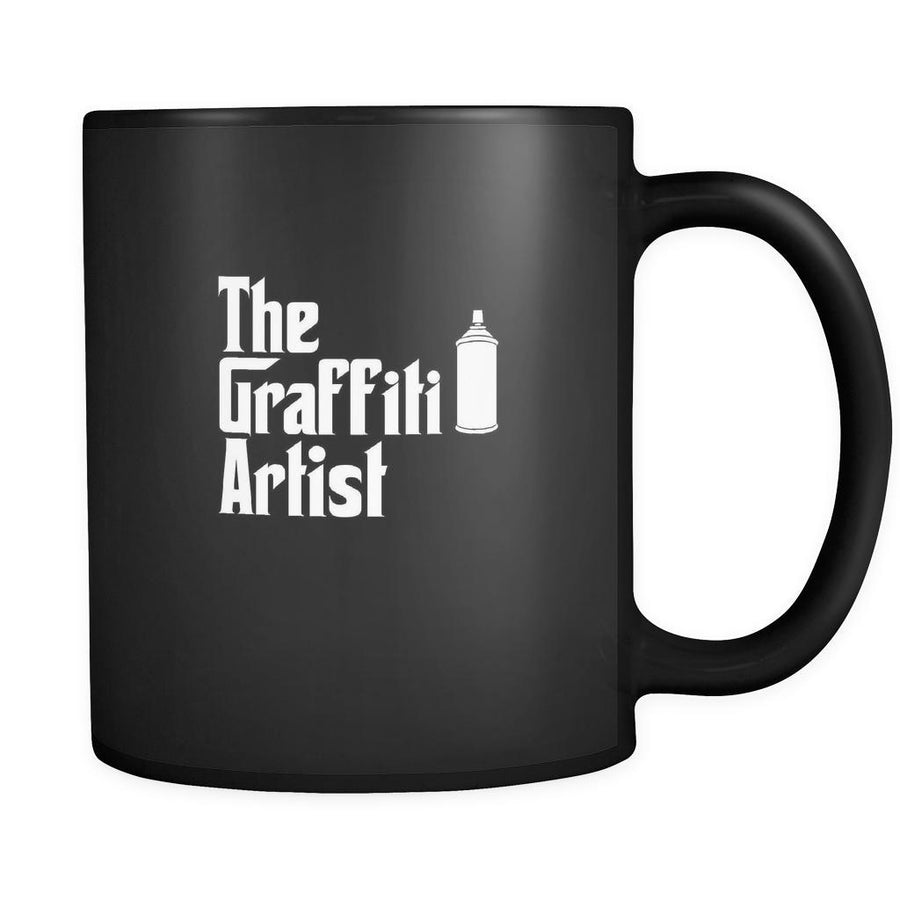 Graffiting The Graffiti Artist 11oz Black Mug