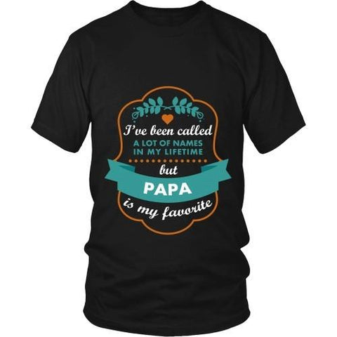 Grandpa T Shirt - I've been called a lot of names in my lifetime but Papa is my favourite-T-shirt-Teelime | shirts-hoodies-mugs
