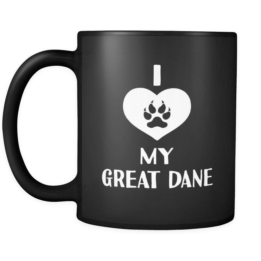 Great Dane I Love My Great Dane 11oz Black Mug