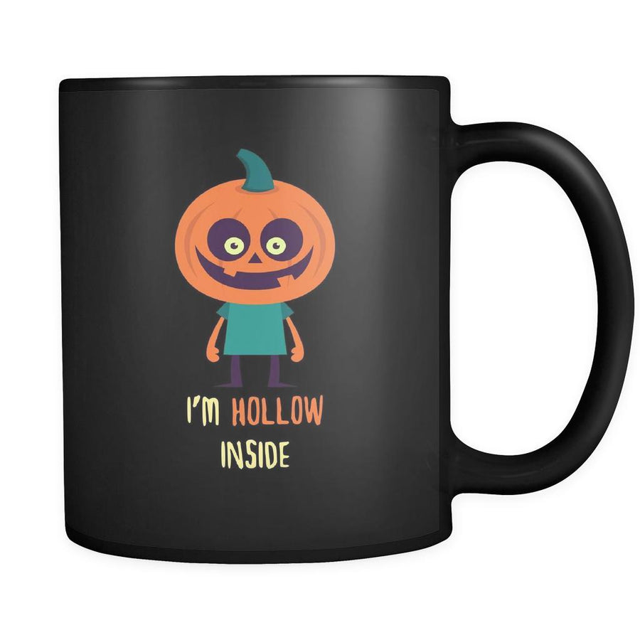 Halloween I'm hollowe inside 11oz Black Mug-Drinkware-Teelime | shirts-hoodies-mugs