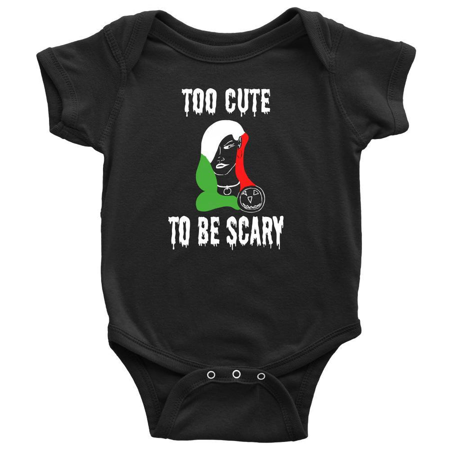 Halloween Kids Shirt-Too cute to be Scary - Italian Lady-T-shirt-Teelime | shirts-hoodies-mugs
