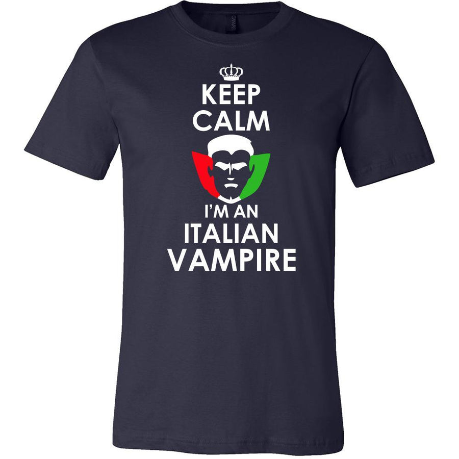 Halloween Shirt - Keep Calm, I'm an Italian Vampire-T-shirt-Teelime | shirts-hoodies-mugs