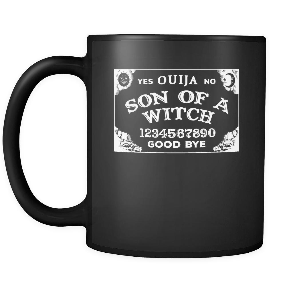 Halloween Son Of A Witch Ouija 11oz Black Mug Teelime Unique T Shirts