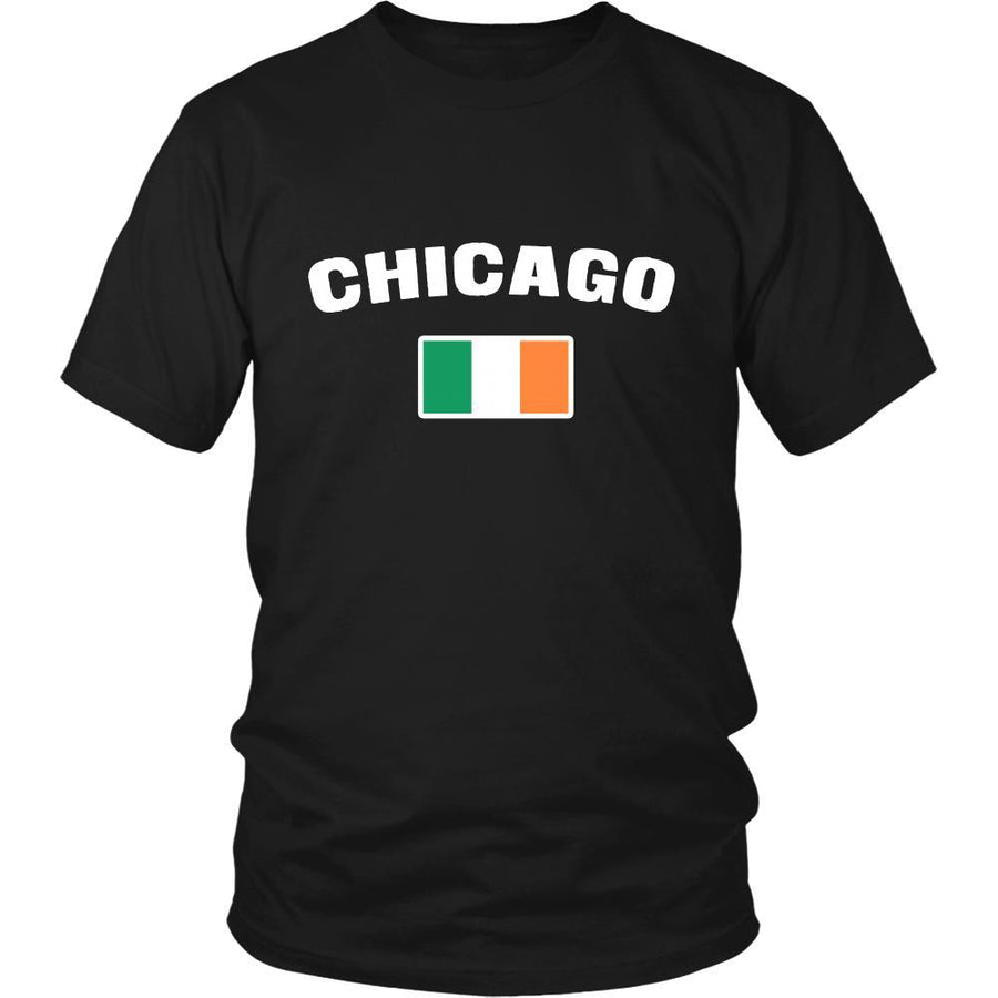 "Happy Saint Patrick's Day - "" Chicago Parade Irish Flag "" - custom made festive t-shirts.-T-shirt-Teelime 