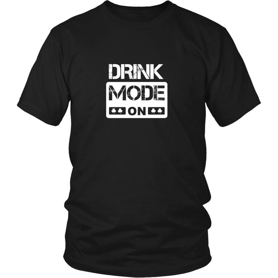 "Happy Saint Patrick's Day - "" Drink Mode ON "" - custom made funny t-shirts.-T-shirt-Teelime 