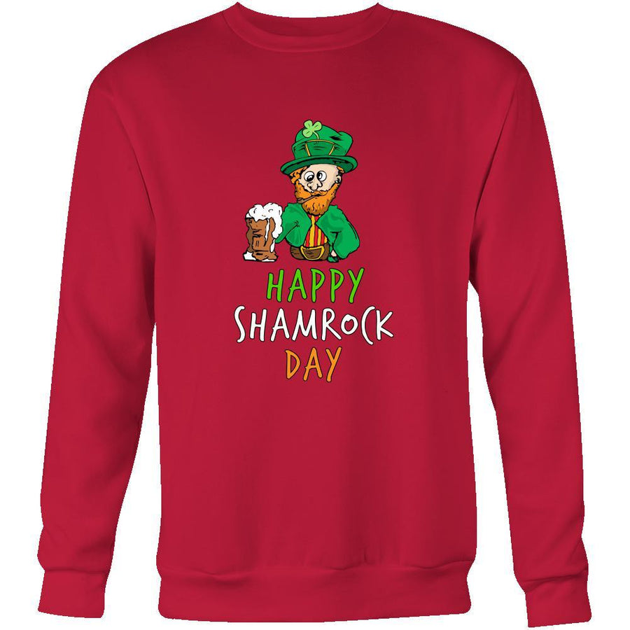 "Happy Saint Patrick's Day - "" Drunk Leprechaun "" - custom made funny sweatshirts,hoodies, long sleeve shirts.-T-shirt-Teelime 