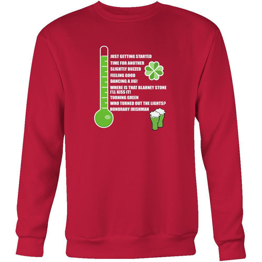 "Happy Saint Patrick's Day - "" Irish Drinkometer "" - custom made funny apparel.-T-shirt-Teelime 