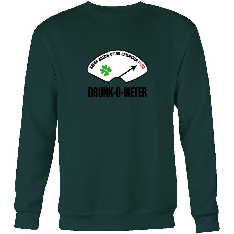 "Happy Saint Patrick's Day - "" Irish Drunk-o-meter "" - custom made funny apparel.-T-shirt-Teelime 
