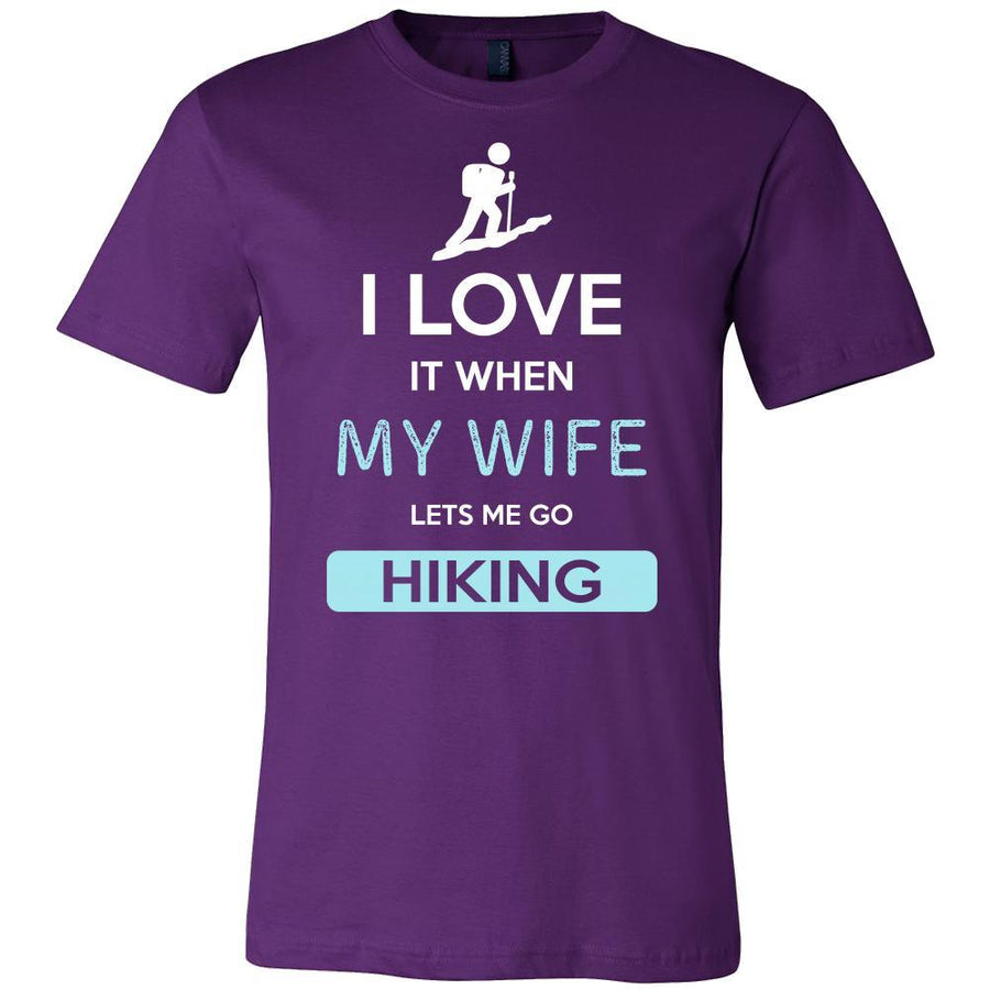 Hiking Shirt - I love it when my wife lets me go Hiking - Hobby Gift-T-shirt-Teelime | shirts-hoodies-mugs