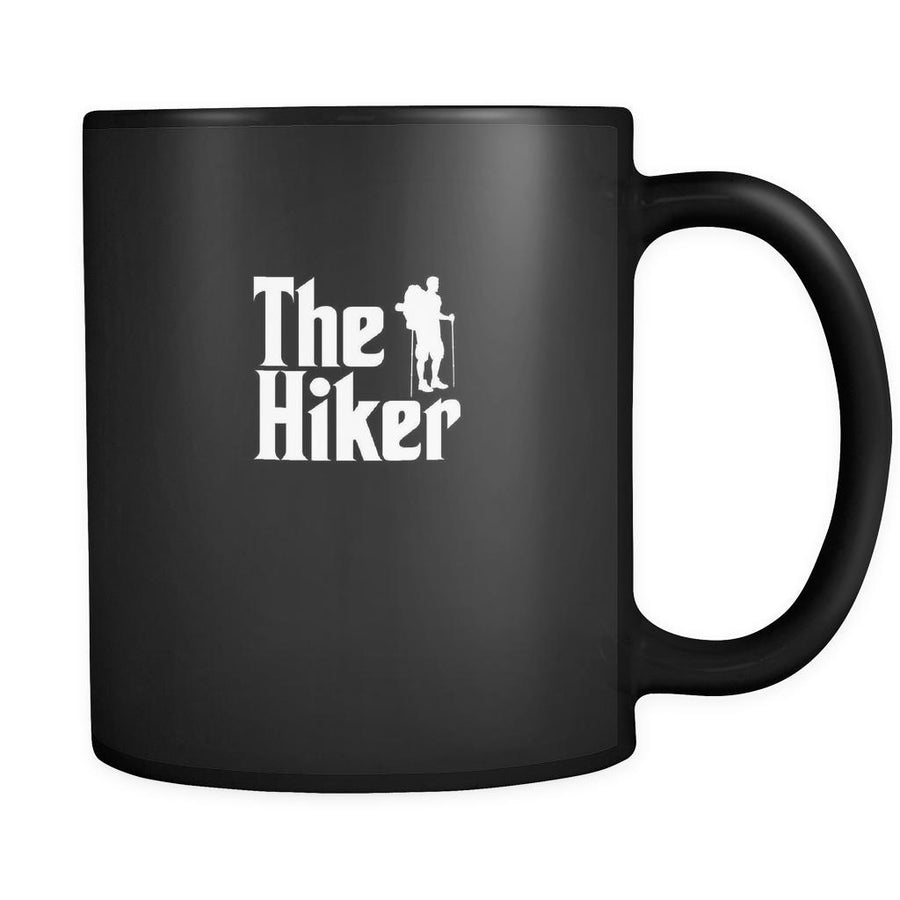 Hiking The Hiker 11oz Black Mug-Drinkware-Teelime | shirts-hoodies-mugs