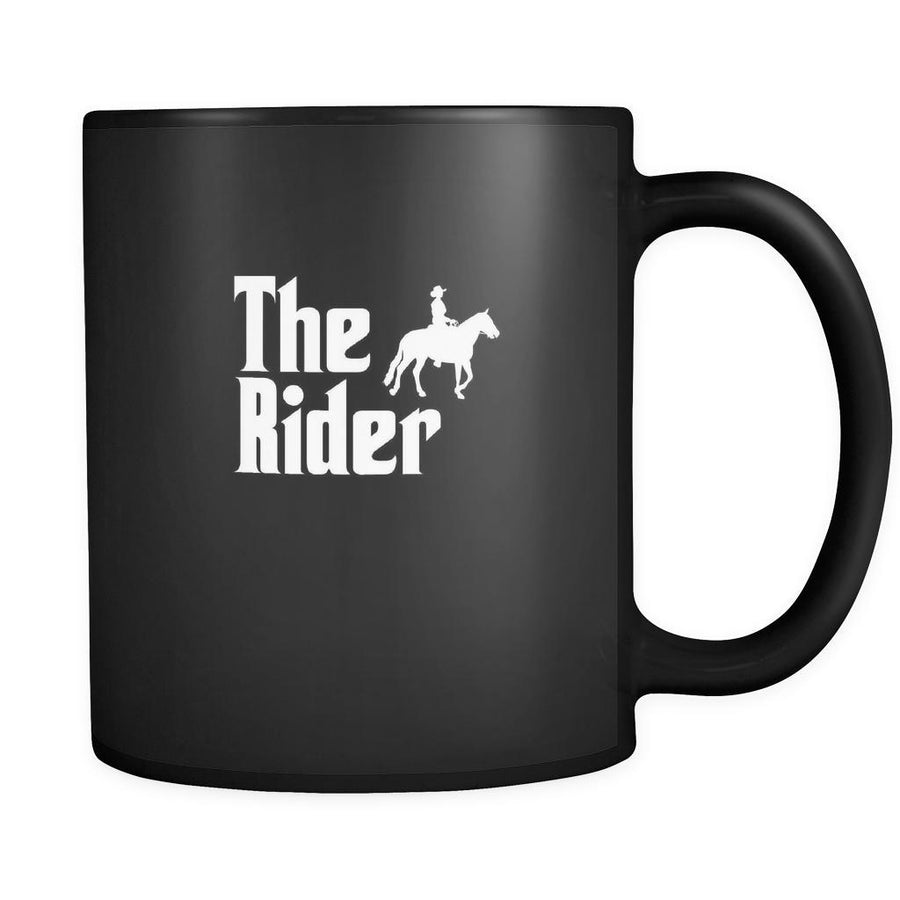 Horse riding The Rider 11oz Black Mug-Drinkware-Teelime | shirts-hoodies-mugs