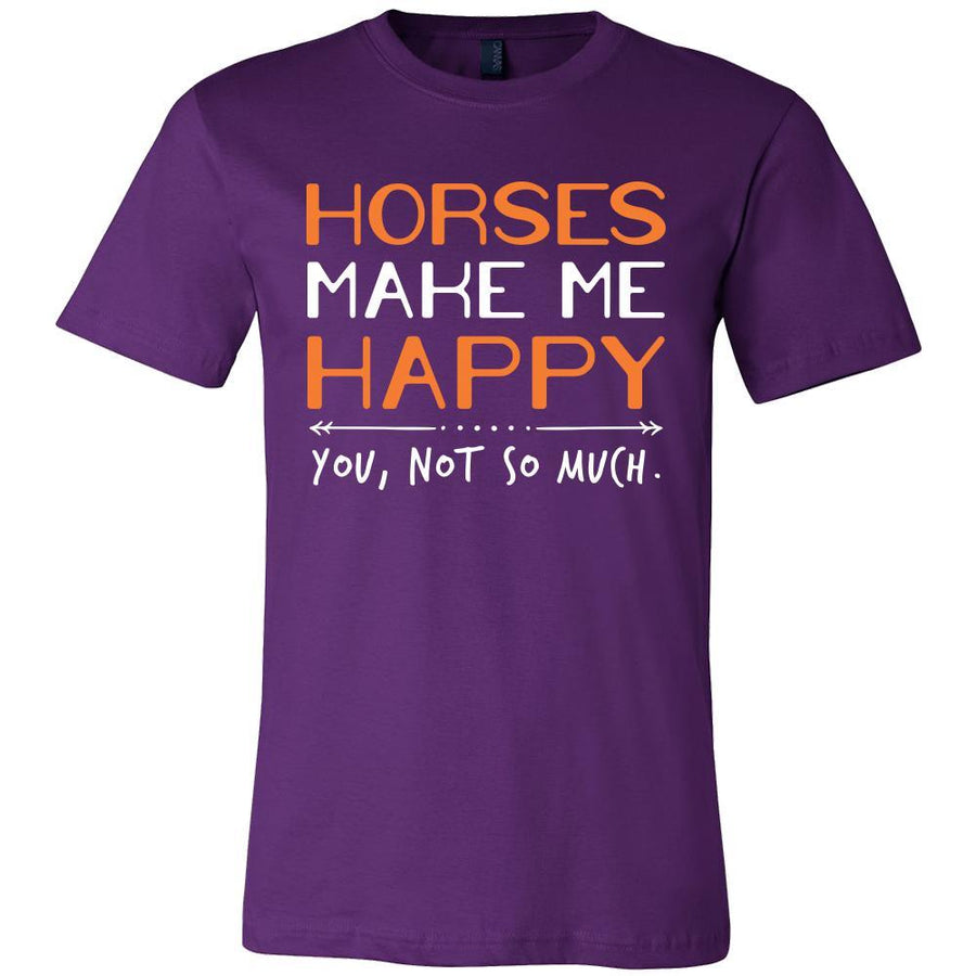 Horse Shirt - Horses Make Me Happy - Animal Lover Gift-T-shirt-Teelime | shirts-hoodies-mugs