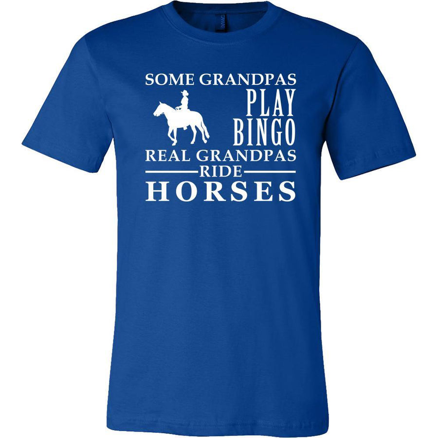 Horses Shirt Some Grandpas play bingo, real Grandpas ride Horses Family Hobby-T-shirt-Teelime | shirts-hoodies-mugs