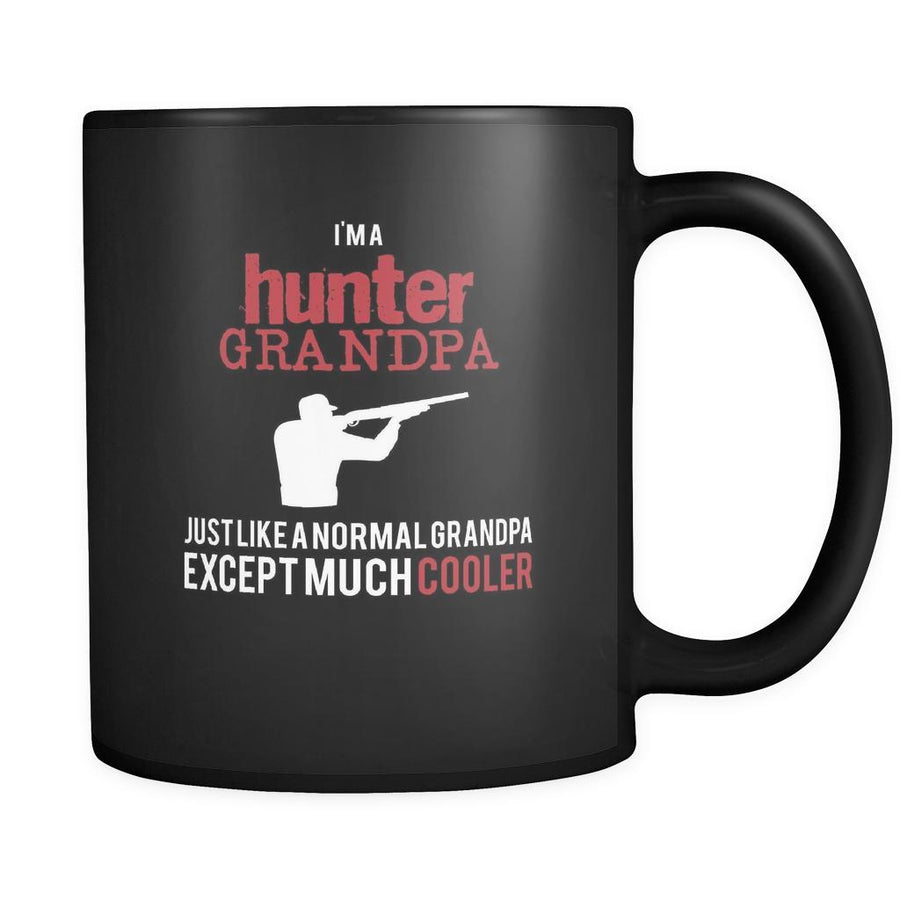 Hunting I'm a hunter grandpa just like a normal grandpa except much cooler 11oz Black Mug-Drinkware-Teelime | shirts-hoodies-mugs
