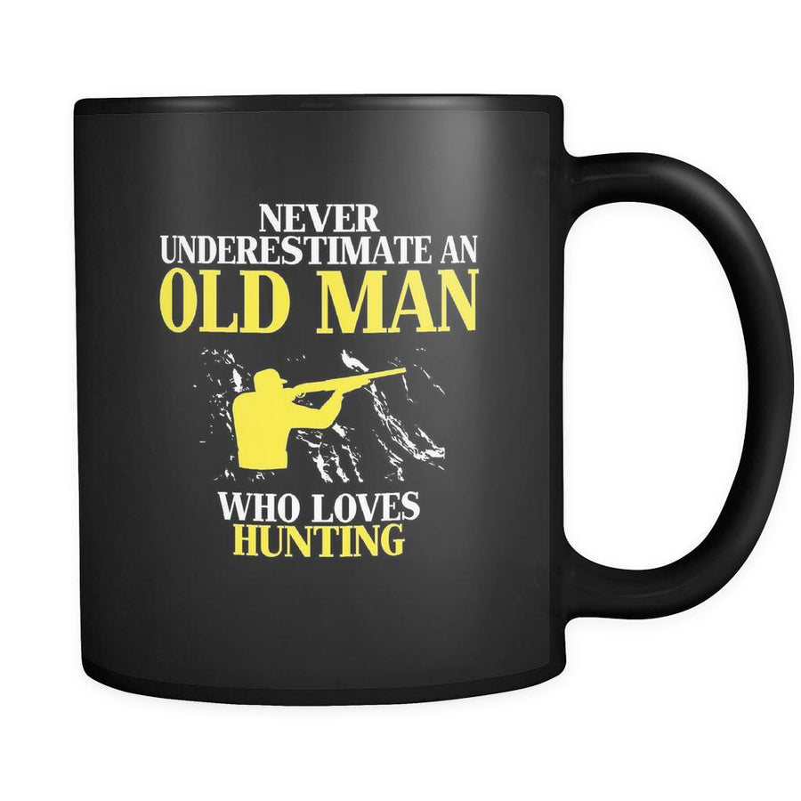 Hunting Never underestimate an old man who loves hunting 11oz Black Mug-Drinkware-Teelime | shirts-hoodies-mugs