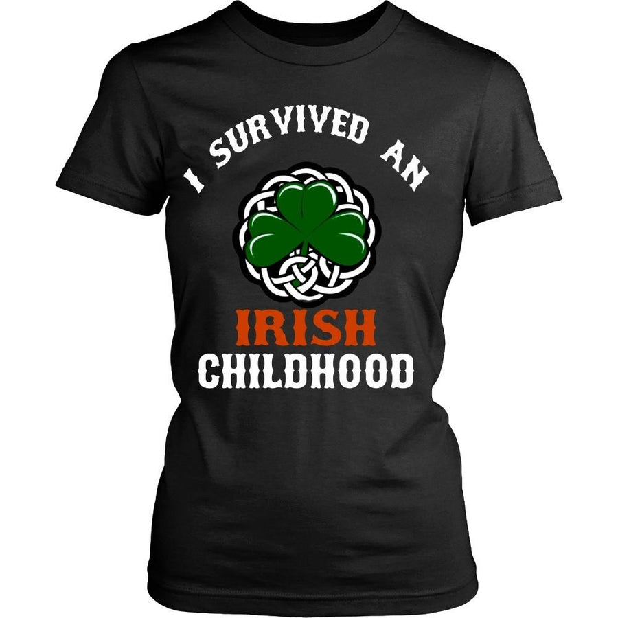 Irish T Shirt - I survived an Irish Childhood