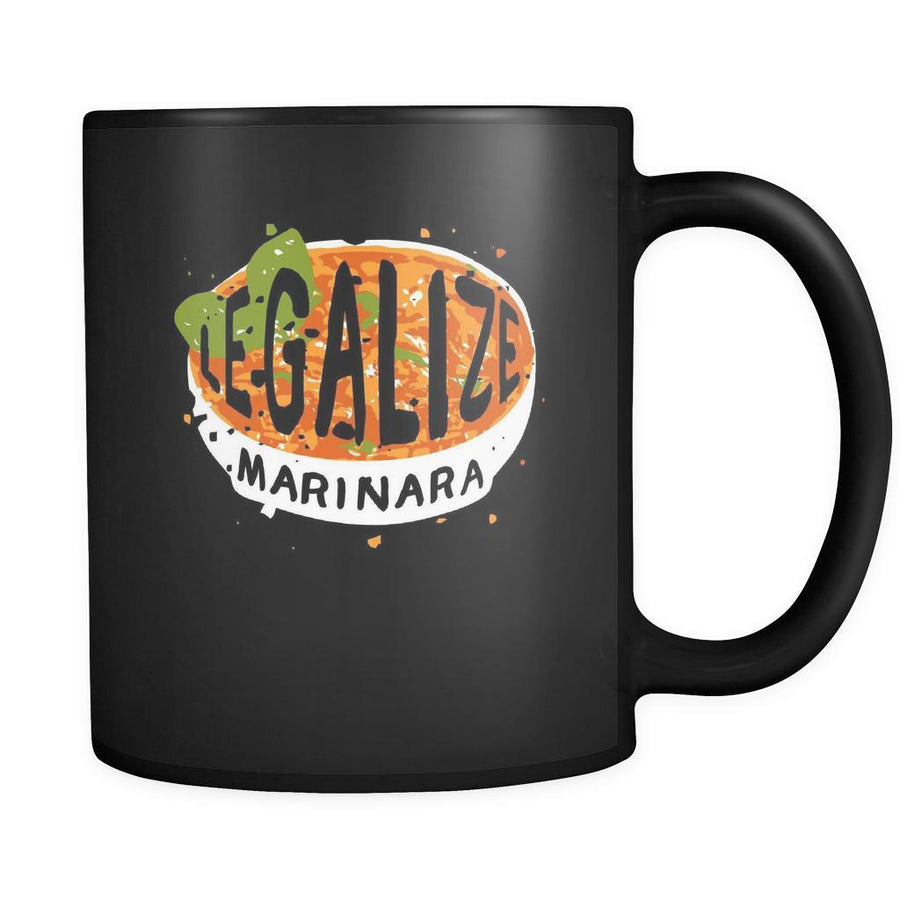 Italian Legalize marinara 11oz Black Mug-Drinkware-Teelime | shirts-hoodies-mugs