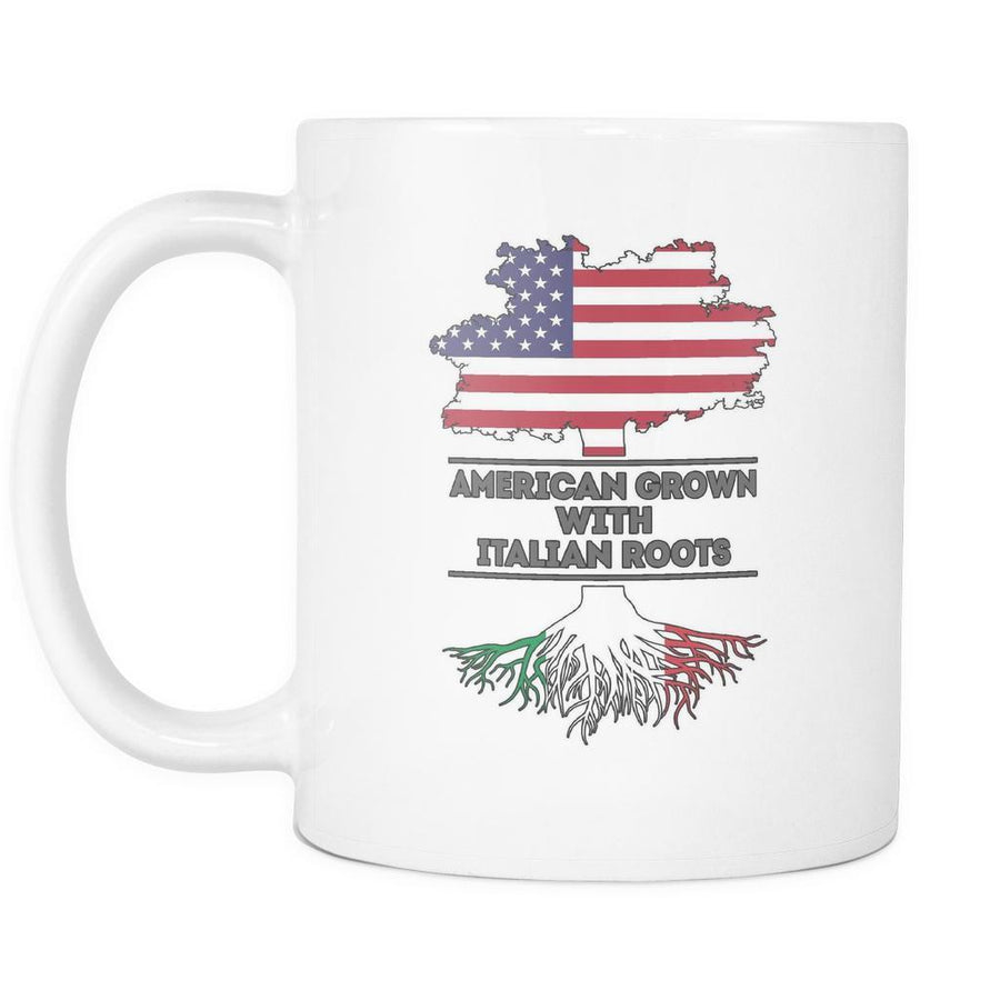 Italian Roots mug - Italian Mugs Italian Coffee Mugs (11oz) White