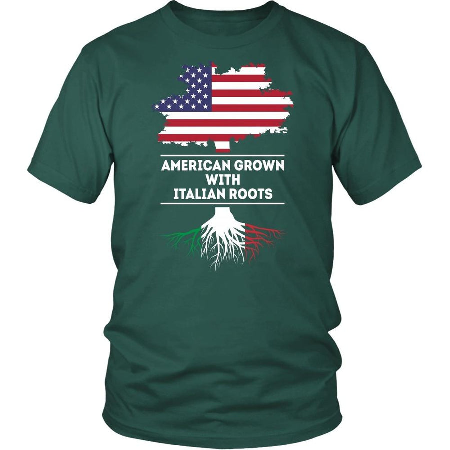 Italian T Shirt - American grown with Italian roots [ver2]-T-shirt-Teelime | shirts-hoodies-mugs