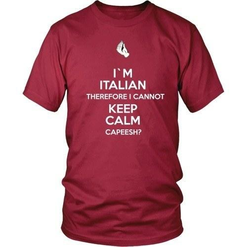 Italian T Shirt - I'm Italian I can't keep calm-T-shirt-Teelime | shirts-hoodies-mugs