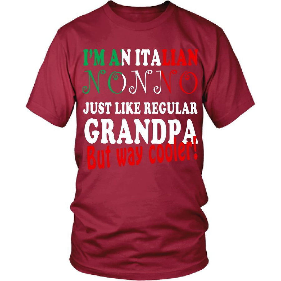 Italian T Shirt - Italian nonno just like regular grandpa but way cooler!-T-shirt-Teelime | shirts-hoodies-mugs