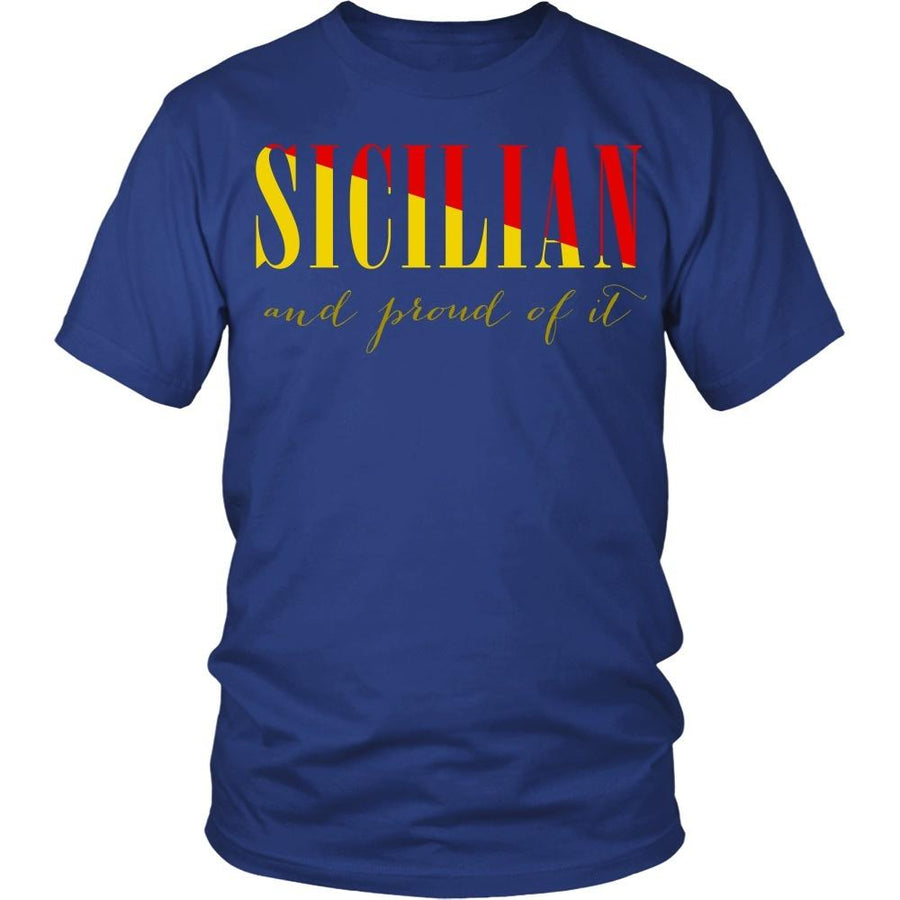 Italian T Shirt - Sicilian and proud of it-T-shirt-Teelime | shirts-hoodies-mugs