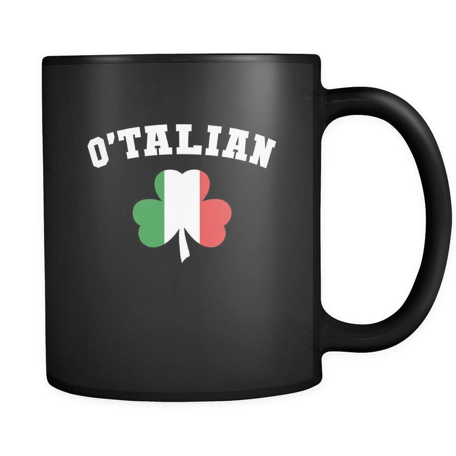 Italians O'talian 11oz Black Mug-Drinkware-Teelime | shirts-hoodies-mugs